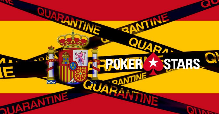 Испанский карантин в клиенте PokerStars.